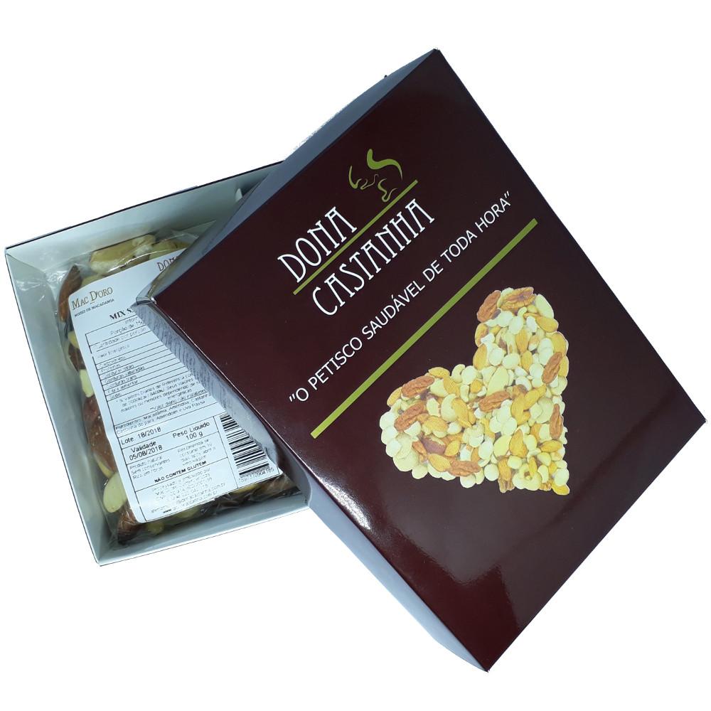 Caixa Coração com Mix de Nozes e Castanhas Natural 200g