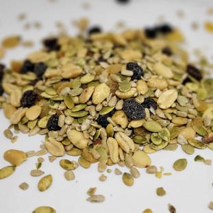 Mix de Sementes Salgadas com Amendoim e Passas 100g